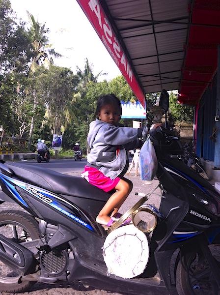 Driving a Motorbike in Bali