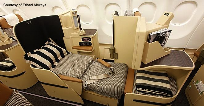 Etihad Airways Business Class on Jet Airways Aircraft!